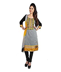 Lamiya Women's Unstitched Salwar Suit (FR7005_Multicolor_Free Size)