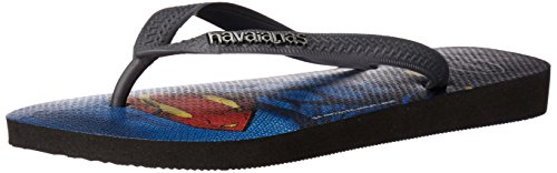 Havaianas Men's Top Batman Vs Superman Logo Sandal Flip Flop, Black/Grey, 39 BR/8 M US at Gotham City Store