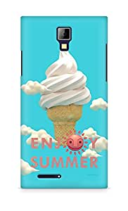 Amez designer printed 3d premium high quality back case cover for Micromax Canvas Express A99 (Happy Summer)