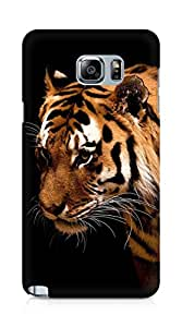 Amez designer printed 3d premium high quality back case cover for Samsung Galaxy Note 5 (Tiger dark animal love nature)