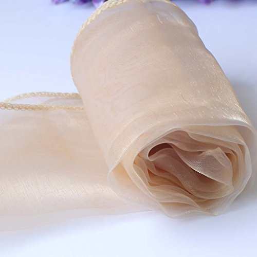 Yontree 10Pcs Sheer Organza Table Runner Wedding Party Banquet Decoration 12