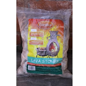 Lava Stones - 4 Litre Bag - For Chiminea Fire Pit - To Protect Base by Worldstores