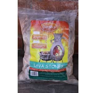 Lava Stones - 4 Litre Bag - for Chiminea, Fire Pit - to Protect Base