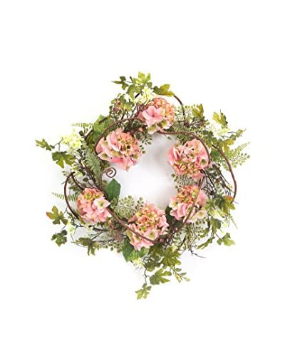Creative Displays Peony And Astilbe Spring Wreath, Crème/Pink/White/Green