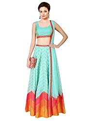 Sanjana New Allover Sky Blue Leheriya Style Lehenga For Women