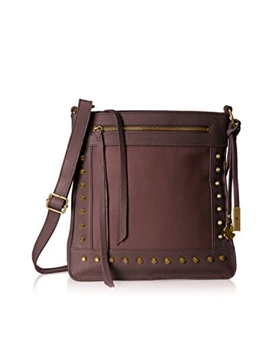 Lucky Brand Women's Studded North/South Cross-Body, Brown