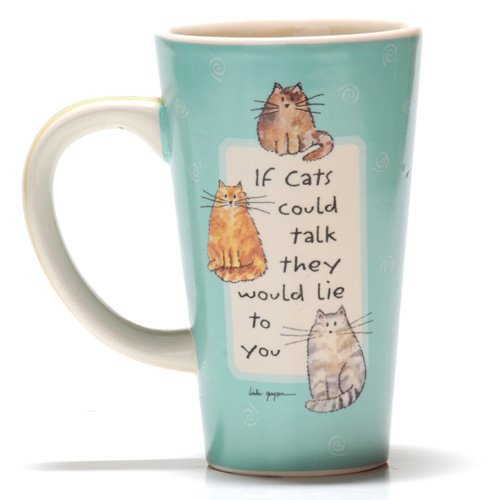 Tumbleweed Pottery 'If Cats Could Talk They Would Lie to You' Ceramic Pet Coffee Mug
