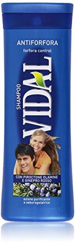 Vidal - Shampoo, Antiforfora con Poroctone Olamine e Ginepro Rosso - 250 ml