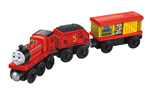 Fisher-Price Thomas Wooden Railway - James and The Dino (Tale of The Brave) (3-Pack)