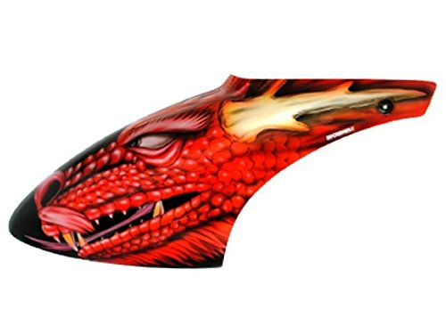 Microheli Airbrush Fiberglass Red Dragon Canopy - BLADE 500X/3D (Blade 500x Helicopter compare prices)