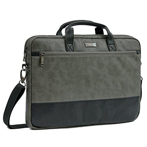 17.3 Laptop Custodia, Evecase PU Pelle Borsa per Computer Portatile per Tablet, PC, Computer fino a 17.3 pollici - Grigio
