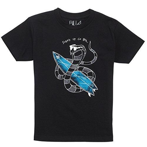 Billabong Little Boys' Kids Co Bra Short Sleeve T-Shirt, Black, 7 front-931619