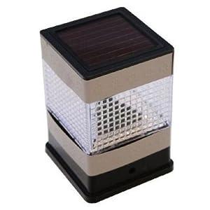 pack of 2 stainless steel fence post solar led light lamp led. Black Bedroom Furniture Sets. Home Design Ideas