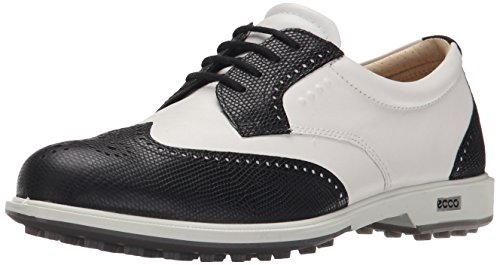 ECCO Women's Classic Hybrid Golf Shoe, Black/White, 38 EU/7-7.5 M US