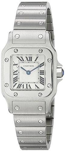 Cartier Women's Steel Bracelet & Case S. Sapphire Swiss Quartz White Dial Analog Watch W20056D6