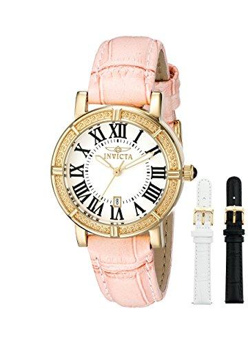 Invicta Damen-Armbanduhr XS Analog Quarz Leder 13968