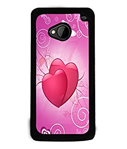 Fuson Love Hearts Back Case Cover for HTC ONE M7 - D3832