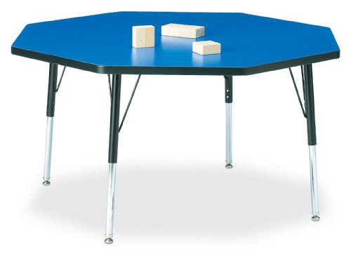 30 Inch X 60 Inch Kydz Activity Table 24 Inch Ht 15 Inch Trapezoid Gray//Green