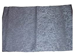 Wyoming Traders Mens Jacquard Silk Wild Rag Scarf Charcoal Gray