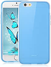 [Apple New iPhone 6 (4.7) Case ] iXCC ® Choice Series [High Quality] [Classy Fashion] [Ultra Slim Thin Fit] [Matte Finish] [Dual Colors] Premium Slim TPU Soft Jelly Protective Cover Case with Anti-Scratch Back Plate and [Anti-Slip, Anti-Fall, Anti-Shock] Rubber Bumper for iPhone 6 (4.7-inch)- Verizon, AT&T, Sprint, T-Mobile, International, and Unlocked [Blue]