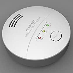 Carbon Monoxide Alarm/detector Includes Battery 5 Year Limited Warranty Ce Approved by PEASWAY TECHNOLOGY