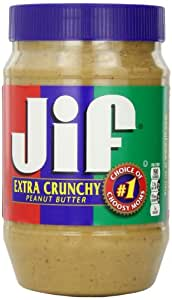 Jif Extra Crunchy Peanut Butter, 40 Ounce (Pack of 8)