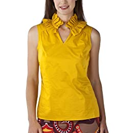 Product Image Merona® Collection Women's Heidi Ruffle Neck Top - Cruise Gold