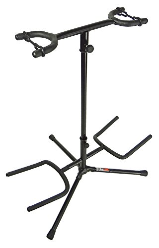 Gearlux Double Guitar Stand With Protective Latches