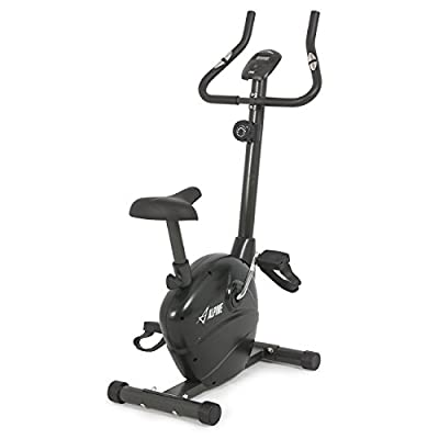 ALPINE© Magnetic Upright Exercise Bicycle Trainer, 8 LEVEL Resistance, Indoor Equipment Workout Fitness