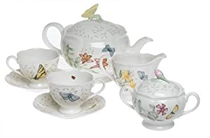 Lenox Butterfly Meadow 7-Piece Tea Set, Service for 2 by Lenox