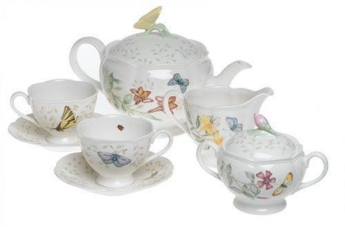 Lenox Butterfly Meadow 7-Piece Tea Set, Service for 2