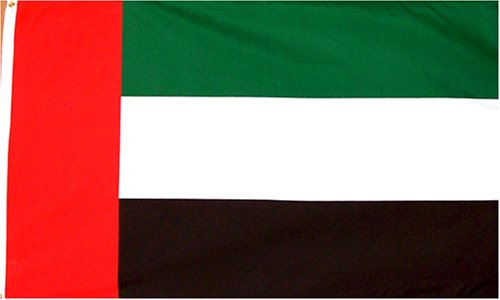 United Arab Emirates National Country Flag - 3 foot by 5 foot Polyester (New)