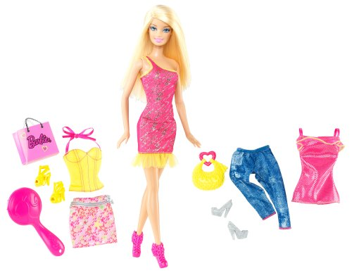 Barbie Doll and Fashions Barbie Pink Dress Giftset - 1