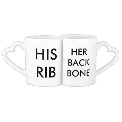 "luRouse COUPLE MUGS Couples' Coffee/Tea Mug 3.8"" x 3.2"" ,8oz Set of 2"
