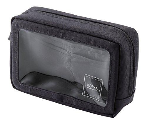 エレコム バッグインバッグ ガジェット収納 背面ポケット付 透明窓付き ブラック BMA-GP08BK