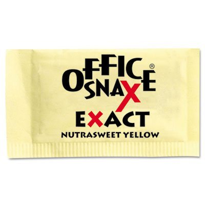 office-snax-ofx00062-exact-nutrasweet-sweetener-packets-individual-reduced-calorie-yellow-pack-of-20