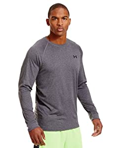 Under Armour Men's UA Tech™ Long Sleeve T-Shirt Large Carbon Heather