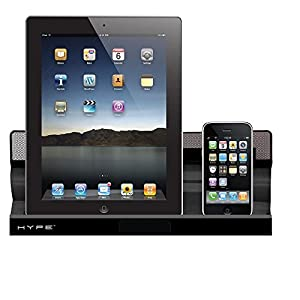 Hype HY891DUALB Dual Charging Station for iPhone/iPad - Retail Packaging - Black