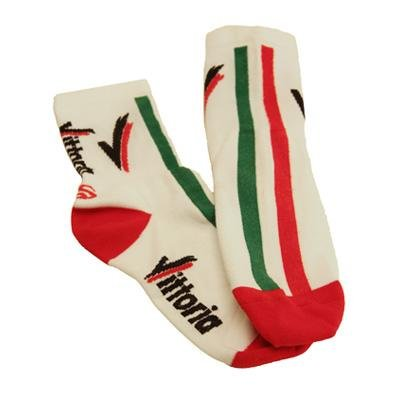 Image of Vittoria 4 inch Cuff Cycling Socks - White (B002L1931I)