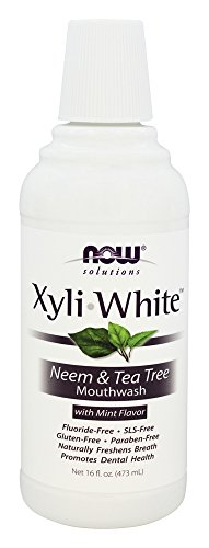Now Foods - Xyliwhite Mouthwash Fluoride-Free Neem & Tea Tree Mint Flavor - 16 Oz.