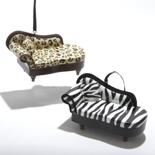 Zebra print chaise lounge pack of 6 zebra and cheetah for Animal print chaise