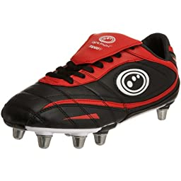 OPTIMUM Adult Inferno II Rugby Boots, Black/Red, US10