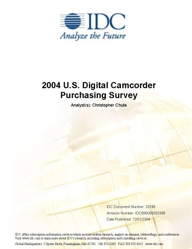 2004 U.S. Digital Camcorder Purchasing Survey