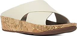 FitFlop Womens Kys Urban White Leather Sandals 6 US