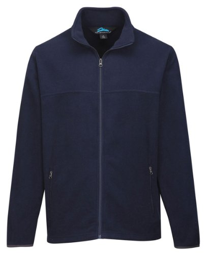 Tri-Mountain Men'S Big And Tall Midweight Fleece Jacket, Navy, Large front-697306