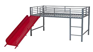 DHP Junior Fantasy Loft Bed, Silver with Red Slide FS W Prime $155.89 at  amazon.com online deal