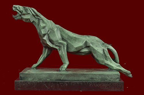 Handmade European Bronze Sculpture Henry Moore Modern Art Abstract Jaguar Panther Cougar Lion Sale(3XAL-373)Statues Figurine Figurines Nude Office & Home Décor Collectibles Deal Gi