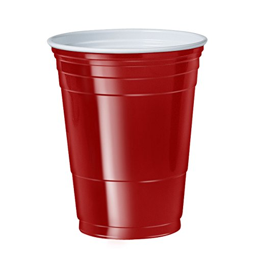 Solo Foodservice P16R Dart Container SOLO Polystyrene Plastic Cold Party Cups, 16 oz., Red (20 Sleeves of 50) (Pack of 1000)