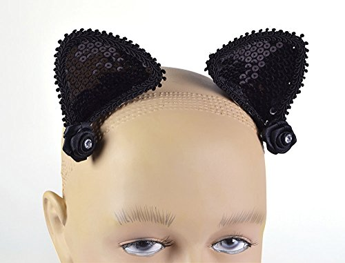 Bristol Novelty Black Cat Ears On Hair Clip Disguises Women's One Size