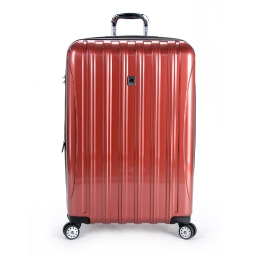 Delsey Helium Aero 29 Inch Expandable Spinner Trolley, Red, One Size